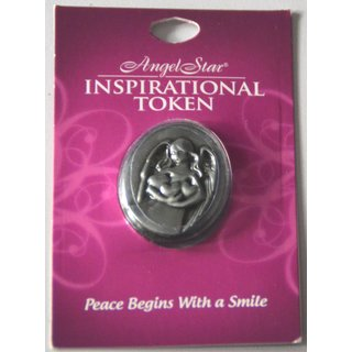 Angel Star Inspirational Token Peace Begins with a Smile